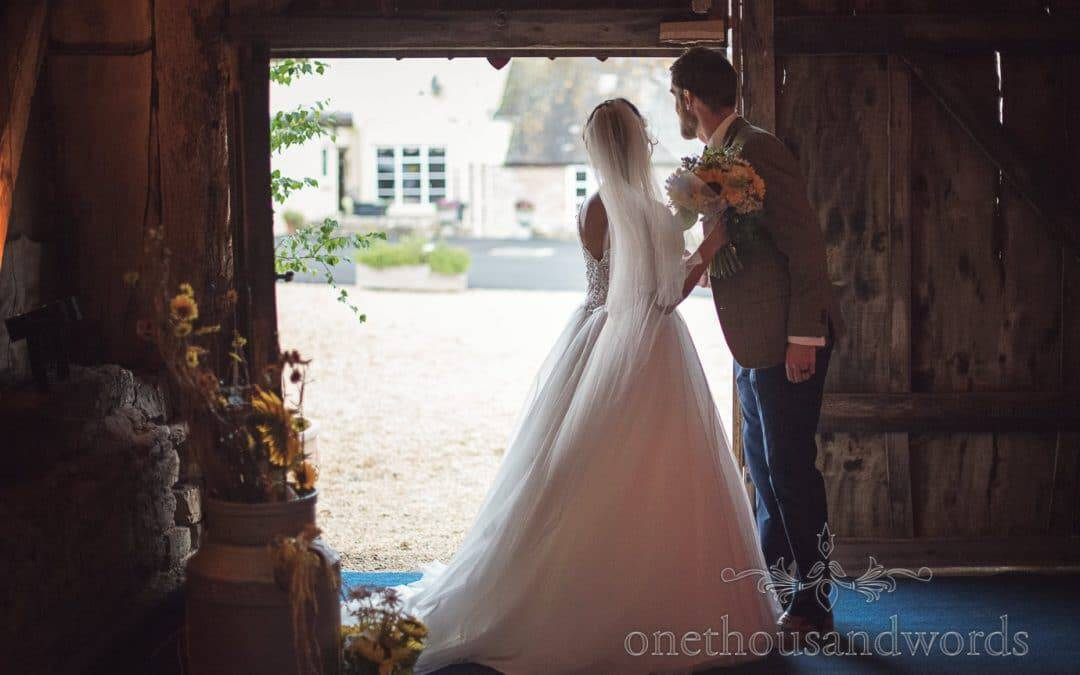 Rustic wedding Photographs at Stockbridge Barn with Oliver and Kirsty