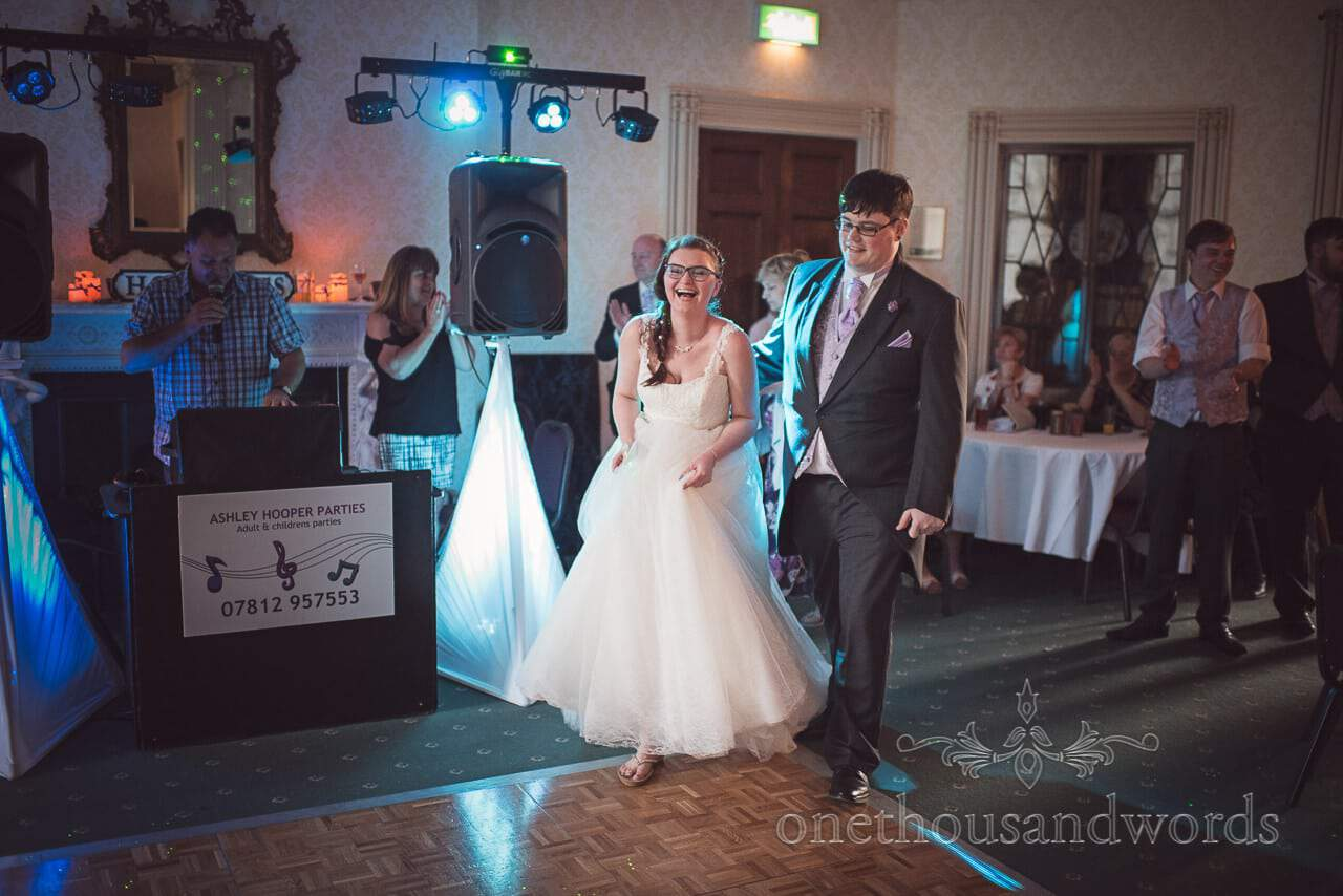 Bride and groom take to the dance floor at Upton House wedding