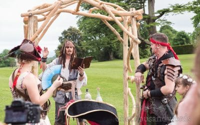 Pirate Themed Wedding at Lulworth Castle Wedding Venue with Zoya & JP