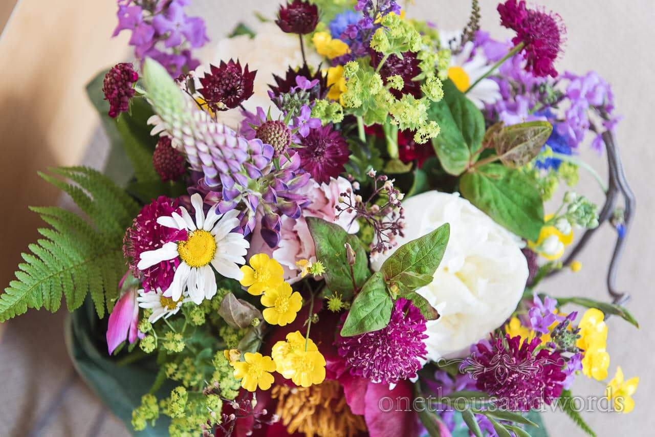 Colorful bridal bouquet from Greenwich wedding photographs