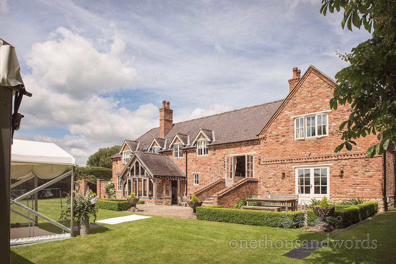 Country House wedding venue in Tur Langton Leicestershire in summer sun