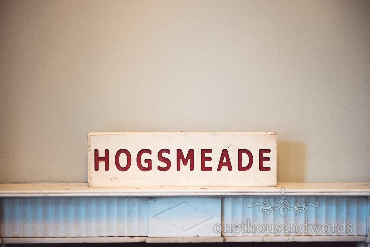Harry Potter themed Wedding Hogsmeade wooden sign