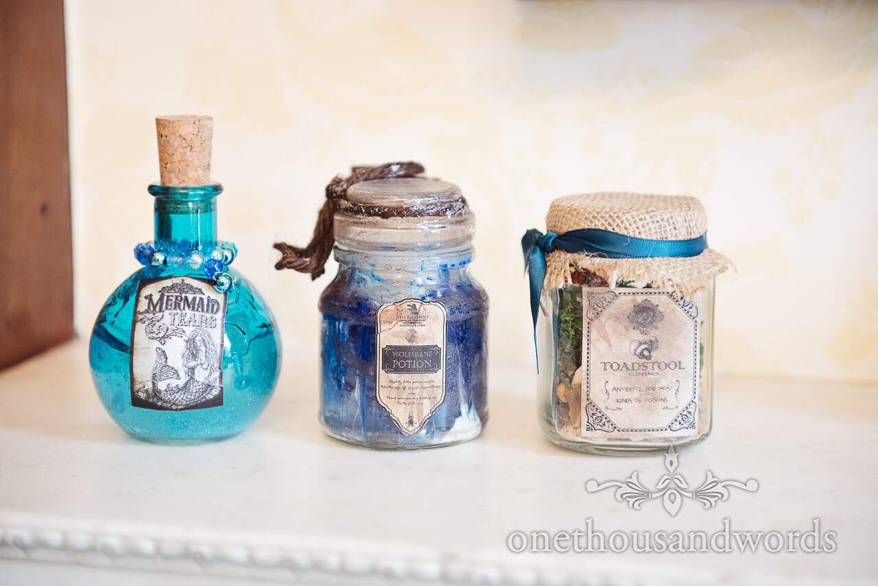 Harry Potter Wedding Home made wizarding ingredients photograph