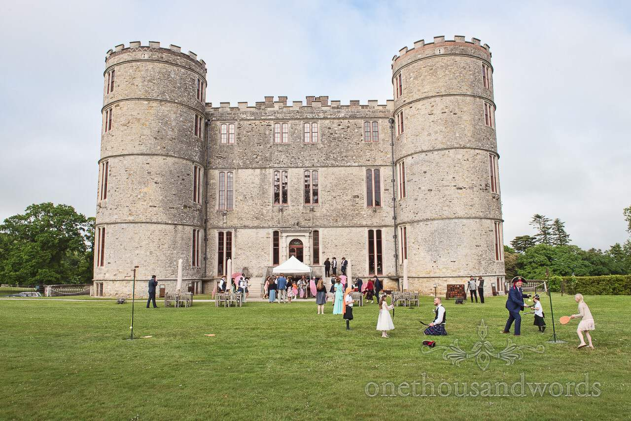 Lulworth Castle wedding venue in Dorset with outdoor Pirate Themed Wedding