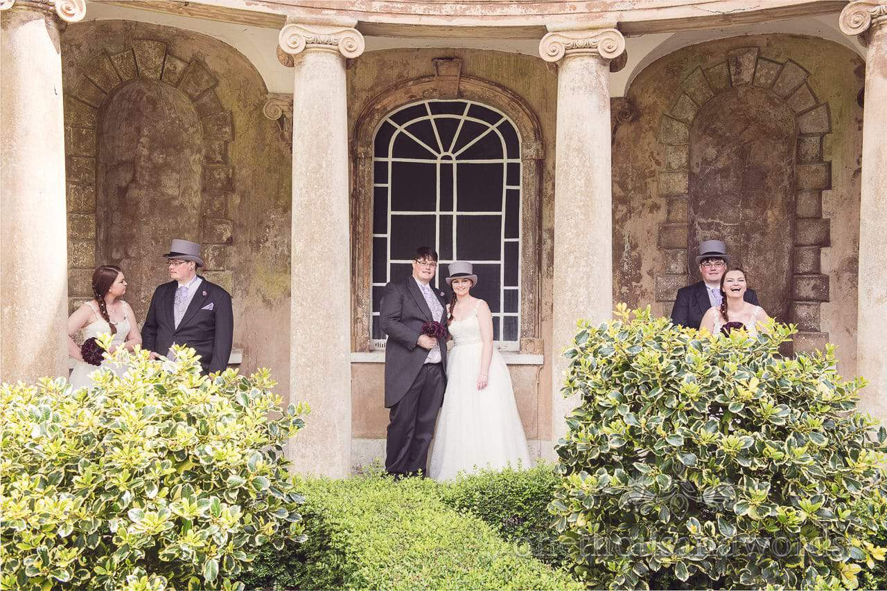 Multiple bride and grooms at Upton House wedding venue in Poole, Dorset