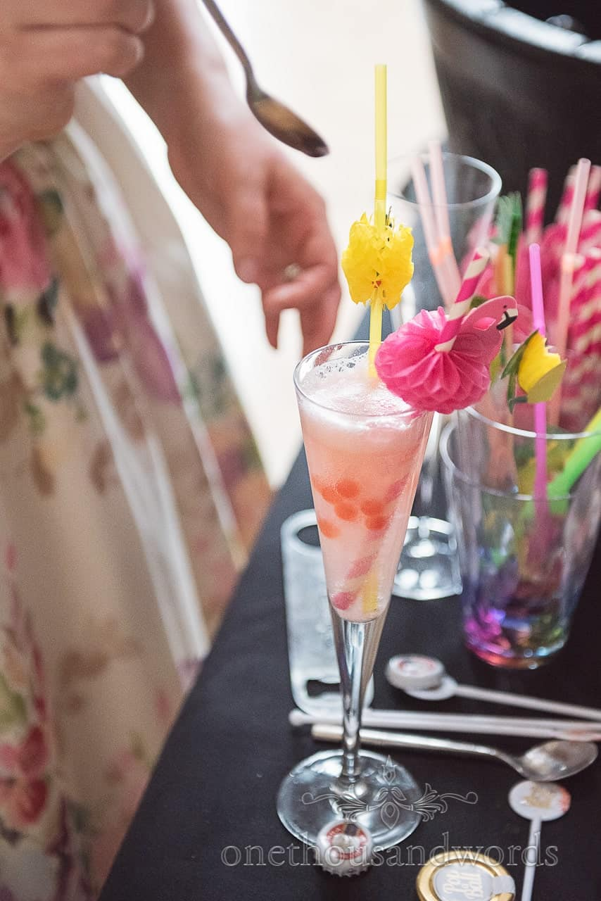 Pimp your Prosecco cocktails with sparkles and balls as wedding drinks