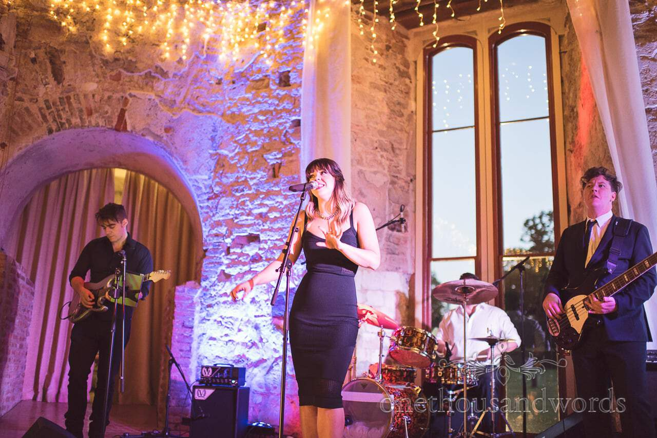 The Cover UP Band wedding band at Lulworth Castle wedding in Dorset