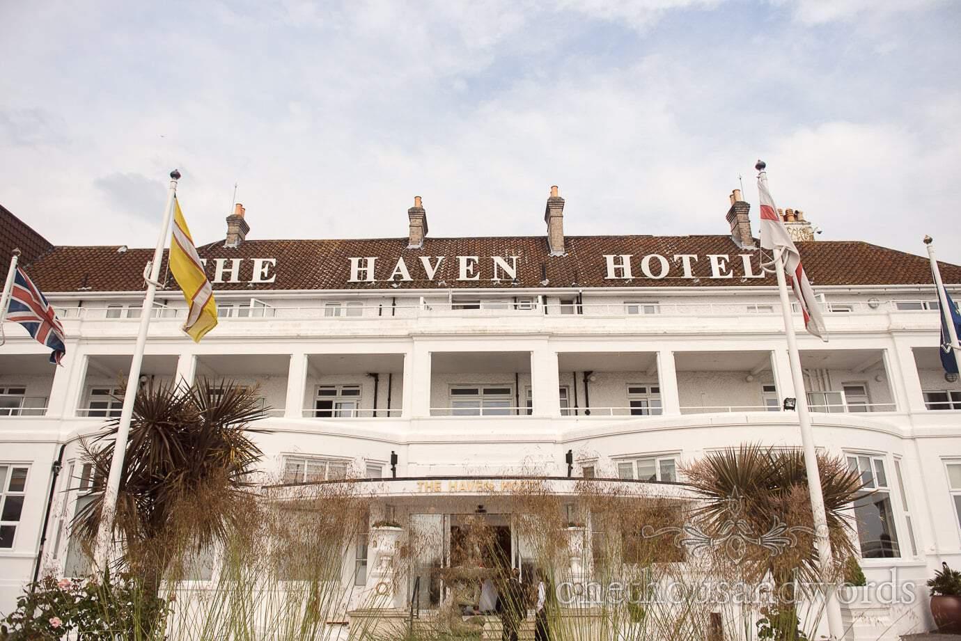 The Haven Hotel Wedding Venue by the sea in Sandbanks Dorset
