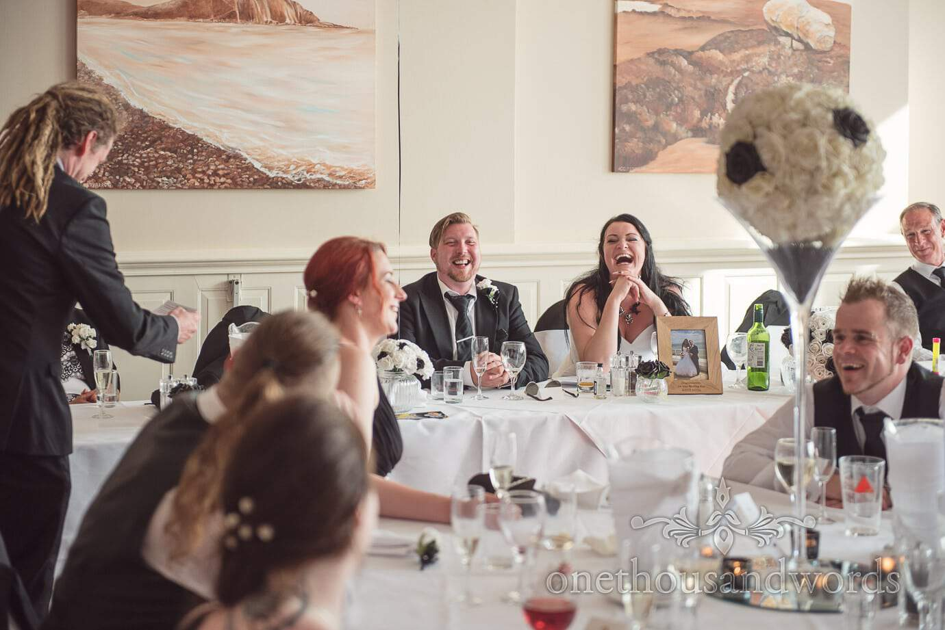 Wedding breakfast questionnaire results reaction at Haven Hotel wedding breakfast