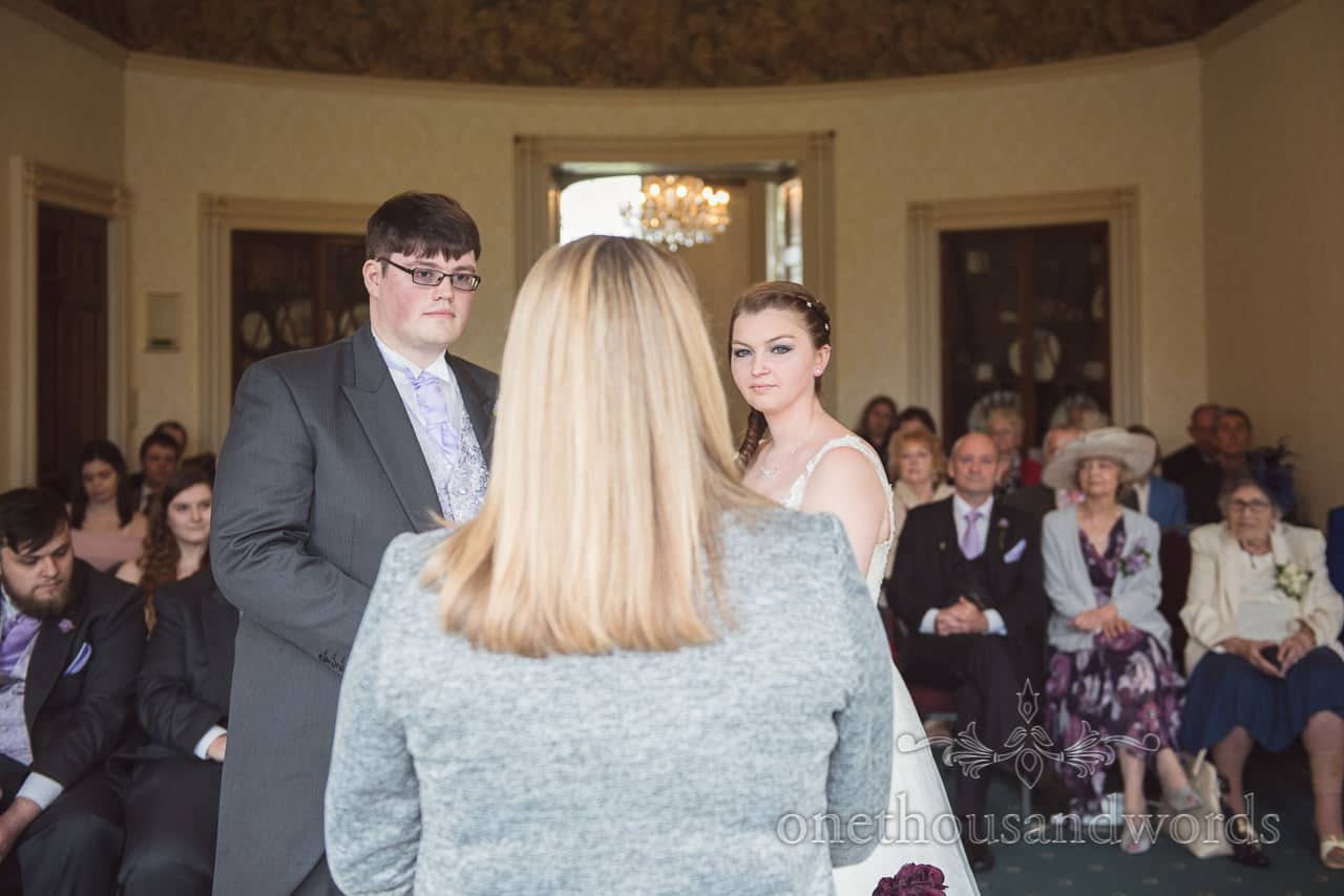 Wedding ceremony photograph at Upton House wedding venue in Dorset