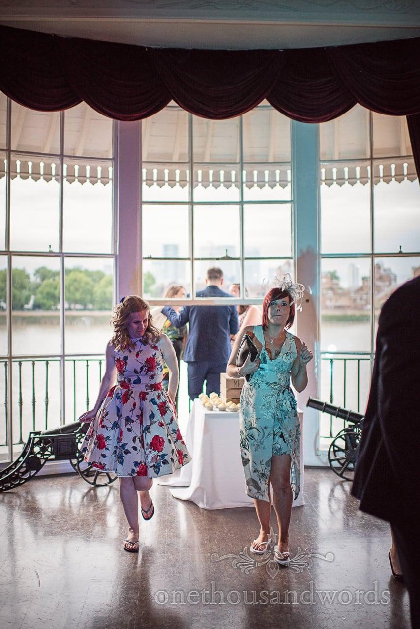 Wedding guests dancing at Trafalgar Tavern Wedding venue in Greenwich, London