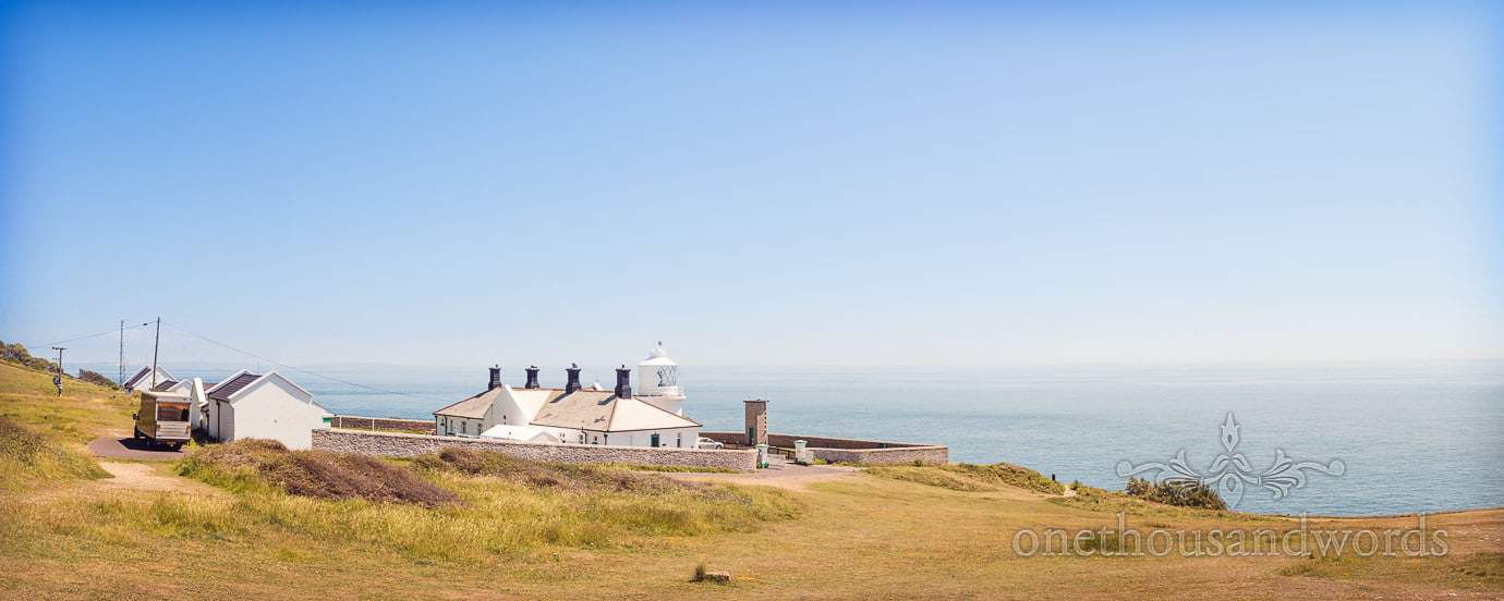 Durlston Lighthouse in Dorset by Swanage Wedding photographers one thousand words