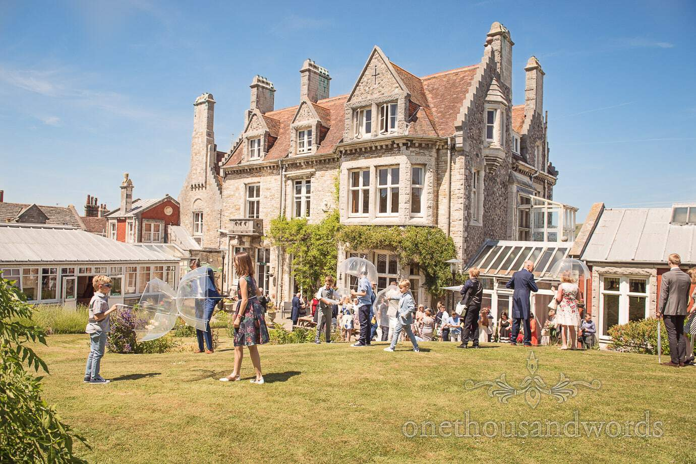Purbeck House Hotel wedding venue in Swanage, Dorset with summer wedding