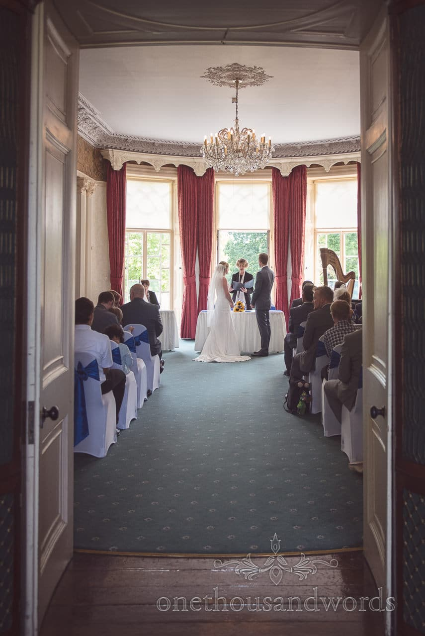 Stately Home wedding ceremony at Upton House wedding venue in Dorset