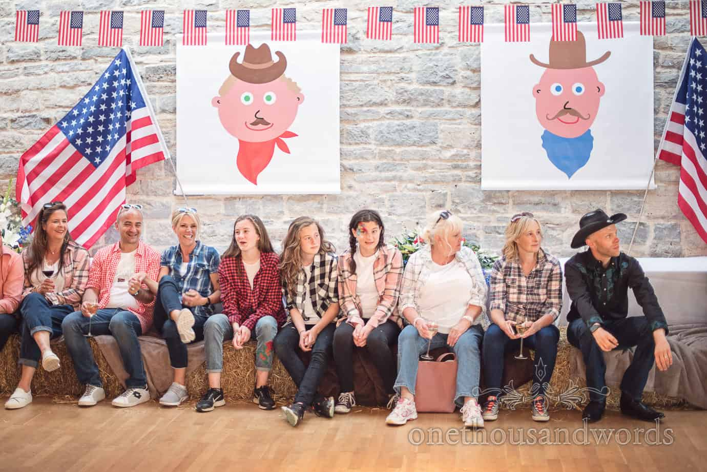 Swanage Wedding Photographers at American cowboy themed wedding evening