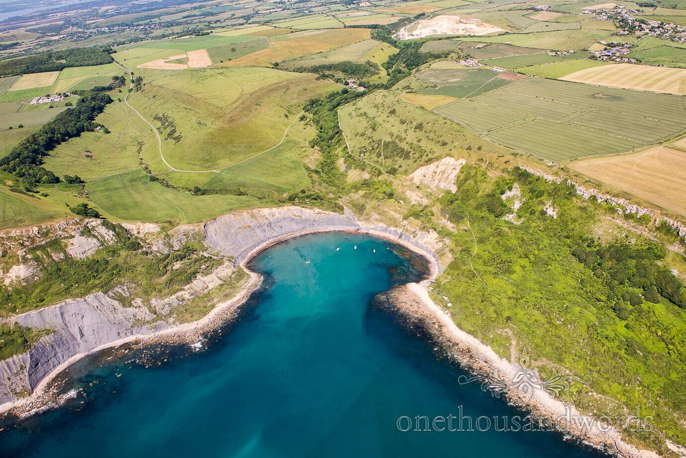 Swanage Wedding Photographers capture stunning Dorset sea cove and countryside