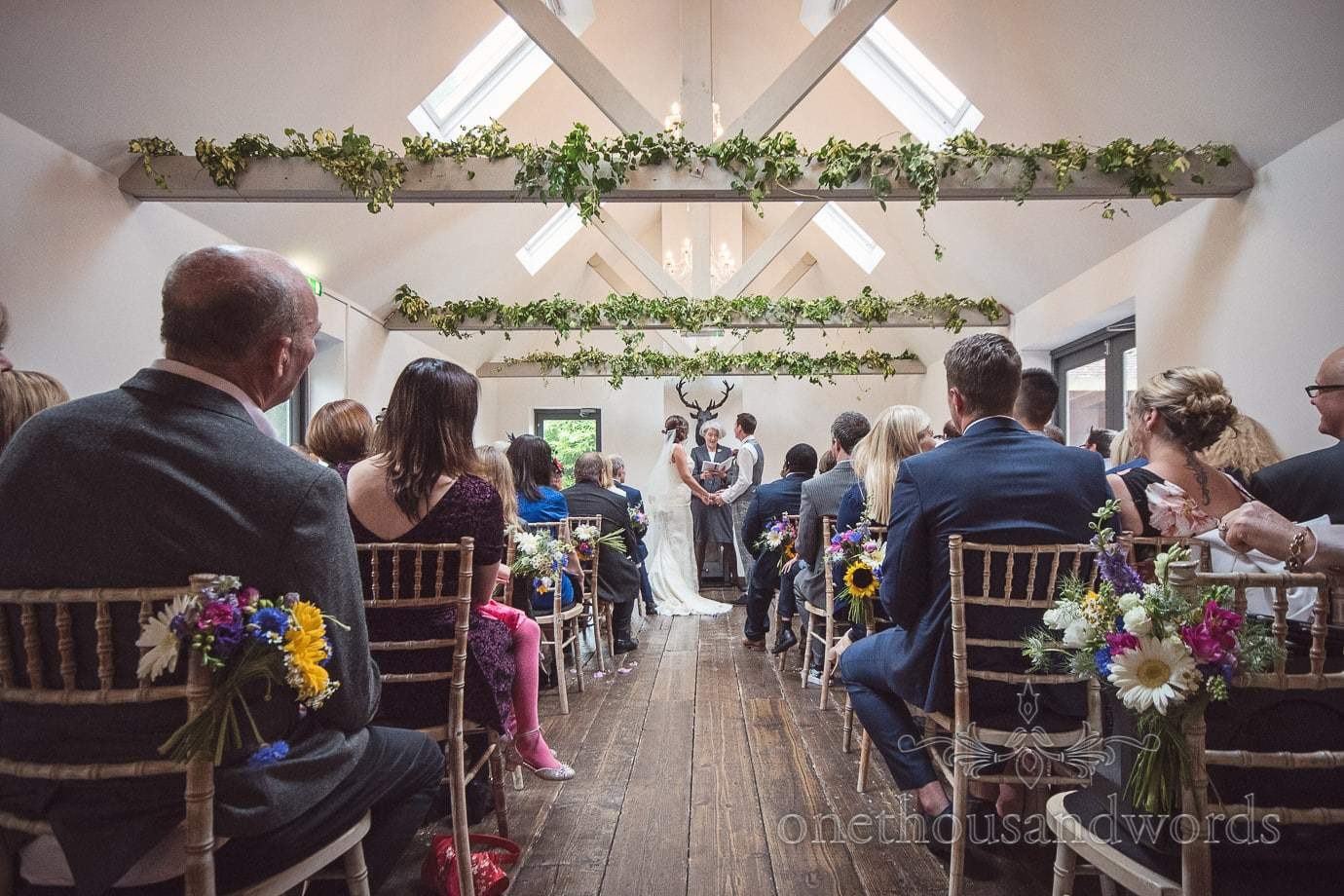 The Orangery wedding ceremony at The Old Vicarage Wedding venue in New Forest