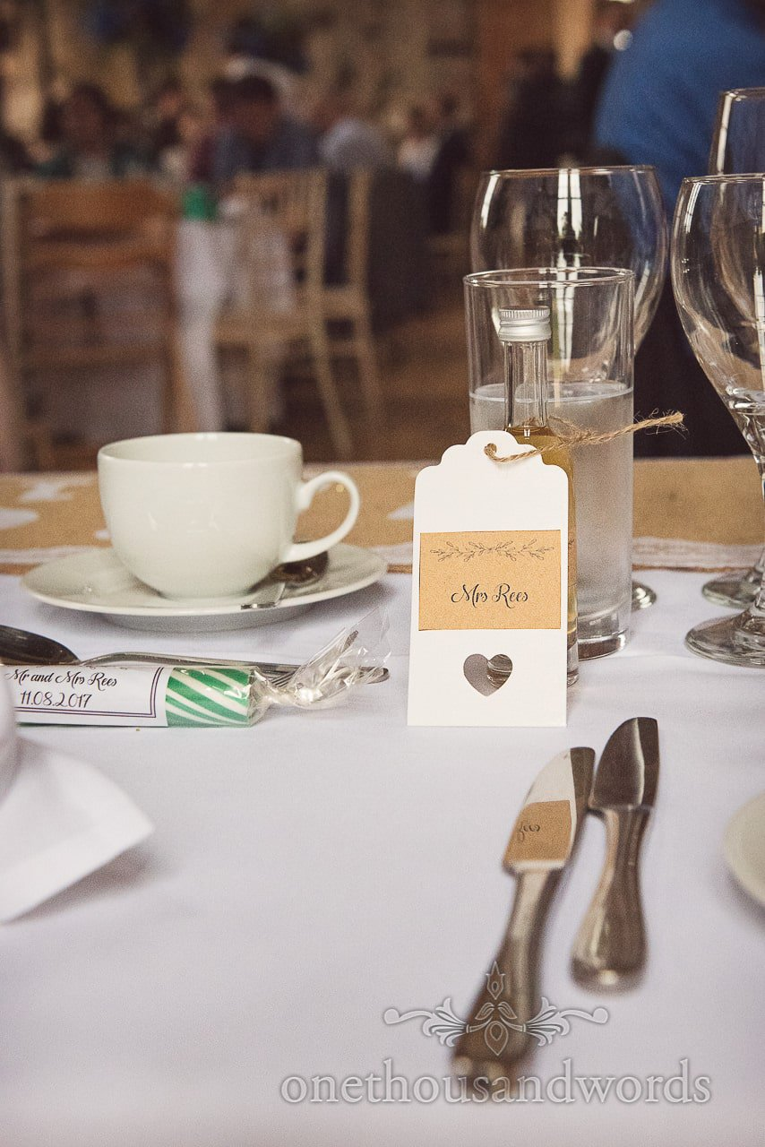 Brides place setting from Lulworth Castle Wedding Photographs