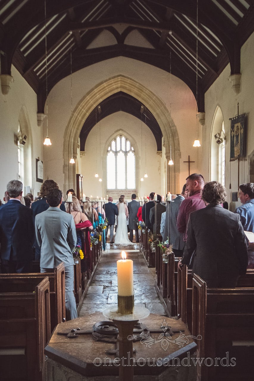 Church wedding ceremony at Lulworth Castle Wedding Photographs
