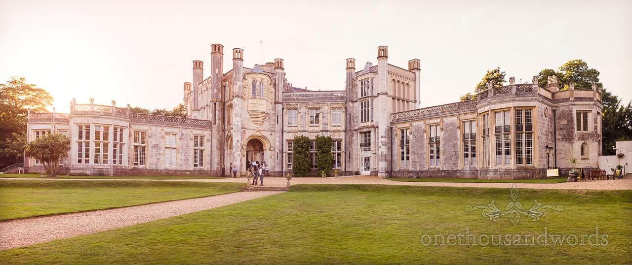 Highcliffe Castle Wedding Venue in Christchurch, Dorset Panoramic photograph