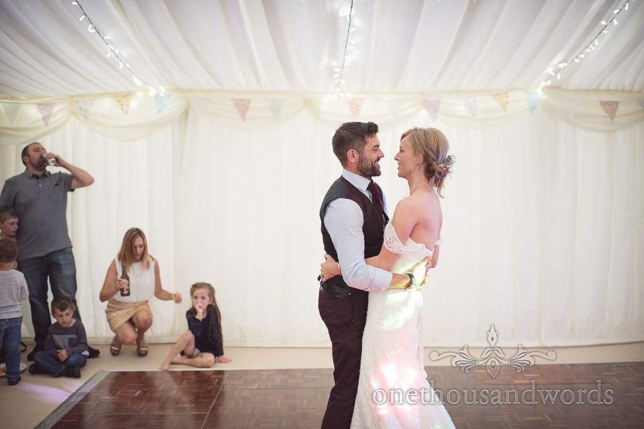 New Mr and Mrs take to the dance floor for first dance
