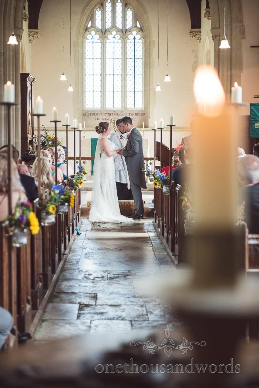 Vicar conducts wedding ceremony at Lulworth Castle Wedding Photographs