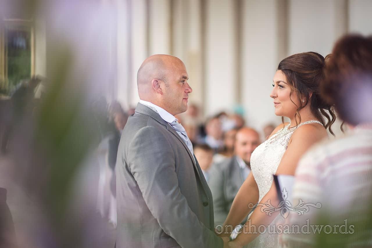Wedding ceremony at Highcliffe Castle Wedding Photographs in Dorset
