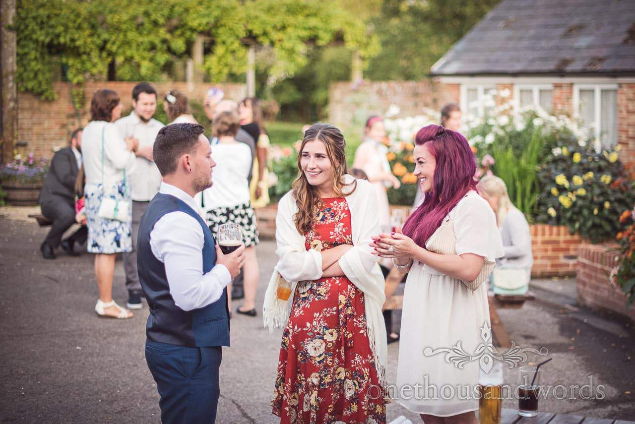 Best man and guests during reception at Coppleridge Inn Wedding Photographs
