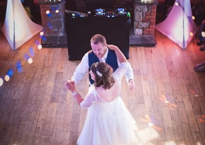 Bride and groom during first dance at Coppleridge Inn Wedding Photographs