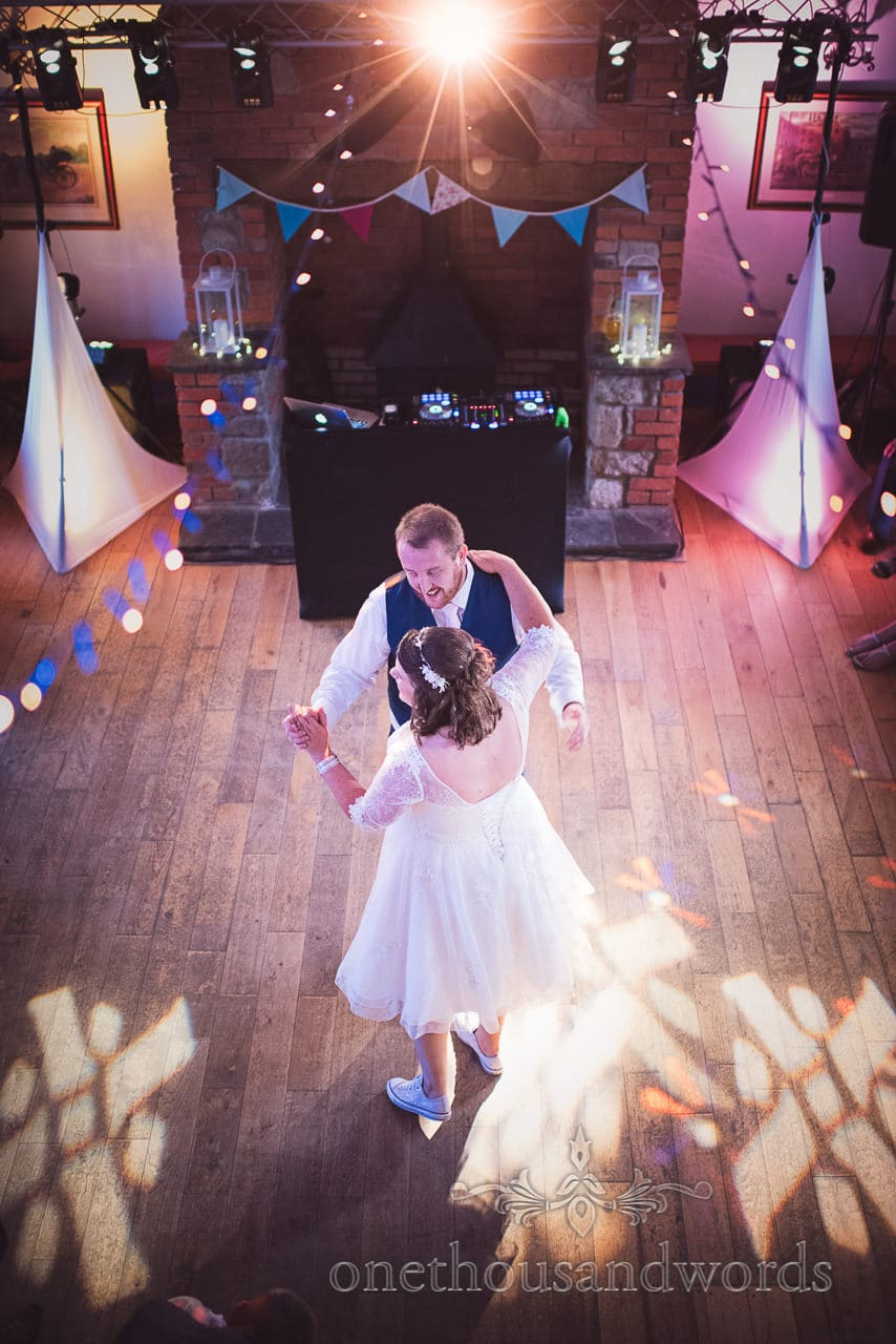 Bride and groom during first dance at Coppleridge Inn Wedding Photographs
