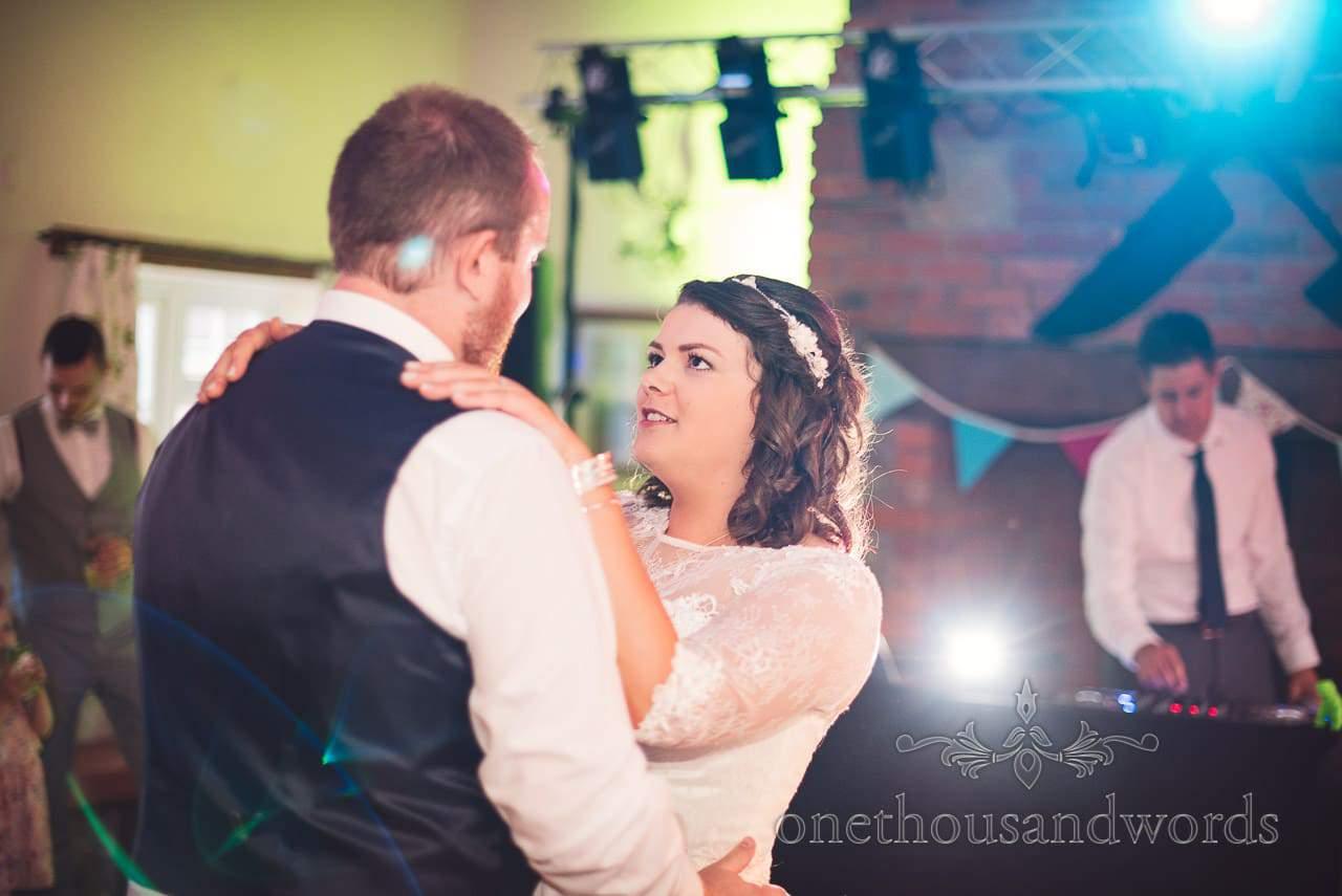 Bride and groom perform first dance at Coppleridge Inn Wedding Photographs