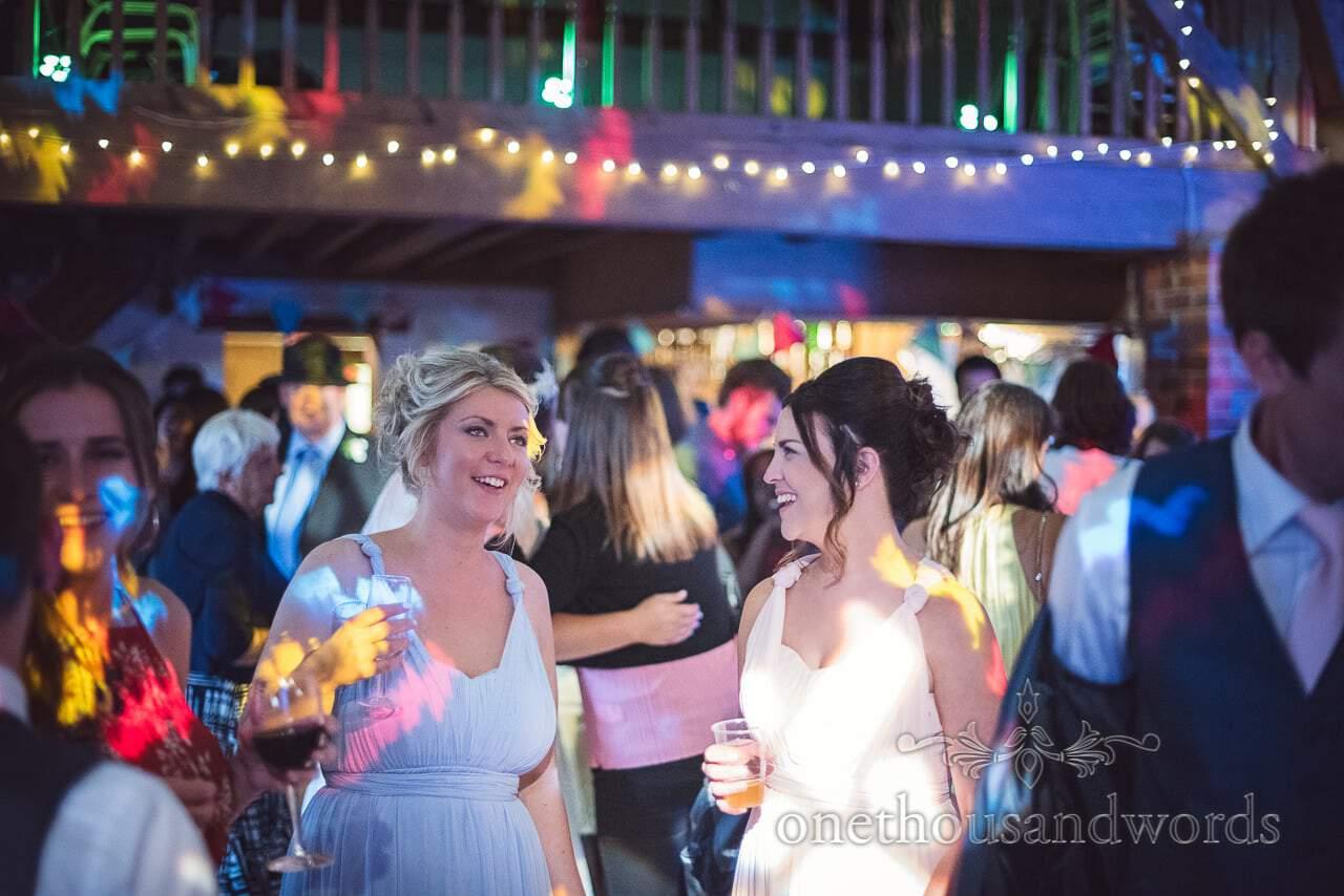 Bridesmaids on the dance floor from Coppleridge Inn Wedding Photographs