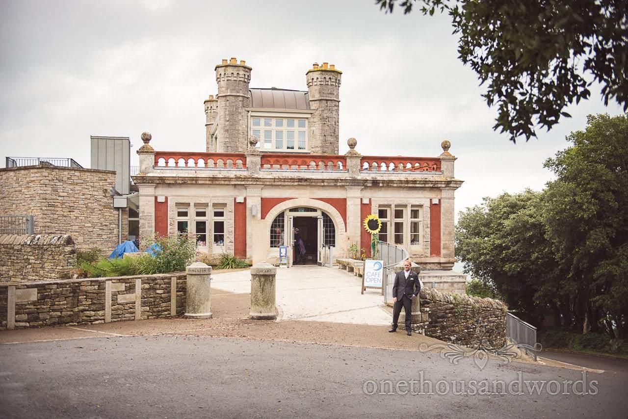 Durlston Castle Wedding Photographs of castle wedding venue in Dorset by the sea