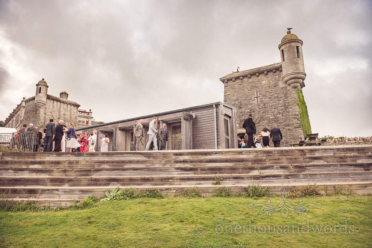 Durlston Castle Wedding Photographs of castle wedding venue in Dorset