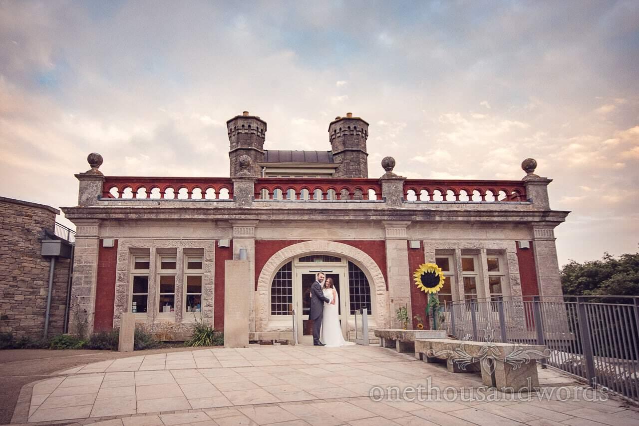 Durlston Castle Wedding Venue by the sea in Swanage Dorset Photograph