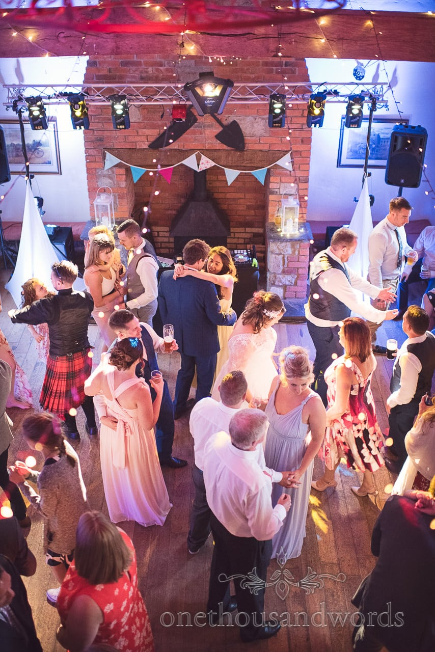 Guests pack the dance floor during reception at Coppleridge Inn Wedding Photographs