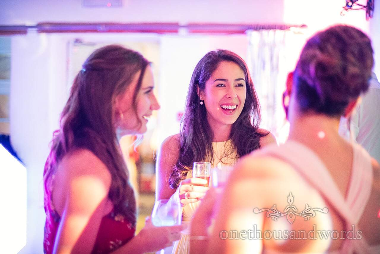 Happy guests during evening reception at Coppleridge Inn Wedding Photographs