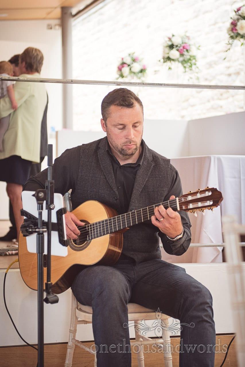 Julian Ward Guitar and Vocal wedding musician at Durlston Castle Wedding venue