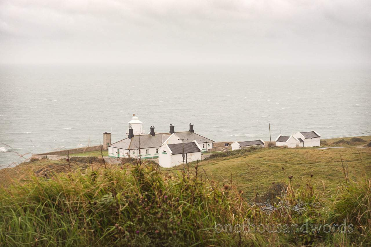 Lighthouse cottages wedding accommodation at Durlston country park by the sea