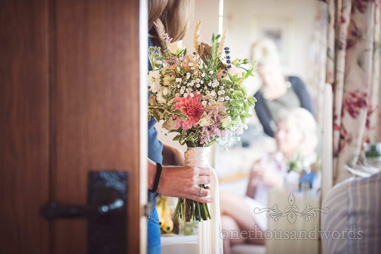 Stunning wild flower bridal bouquet