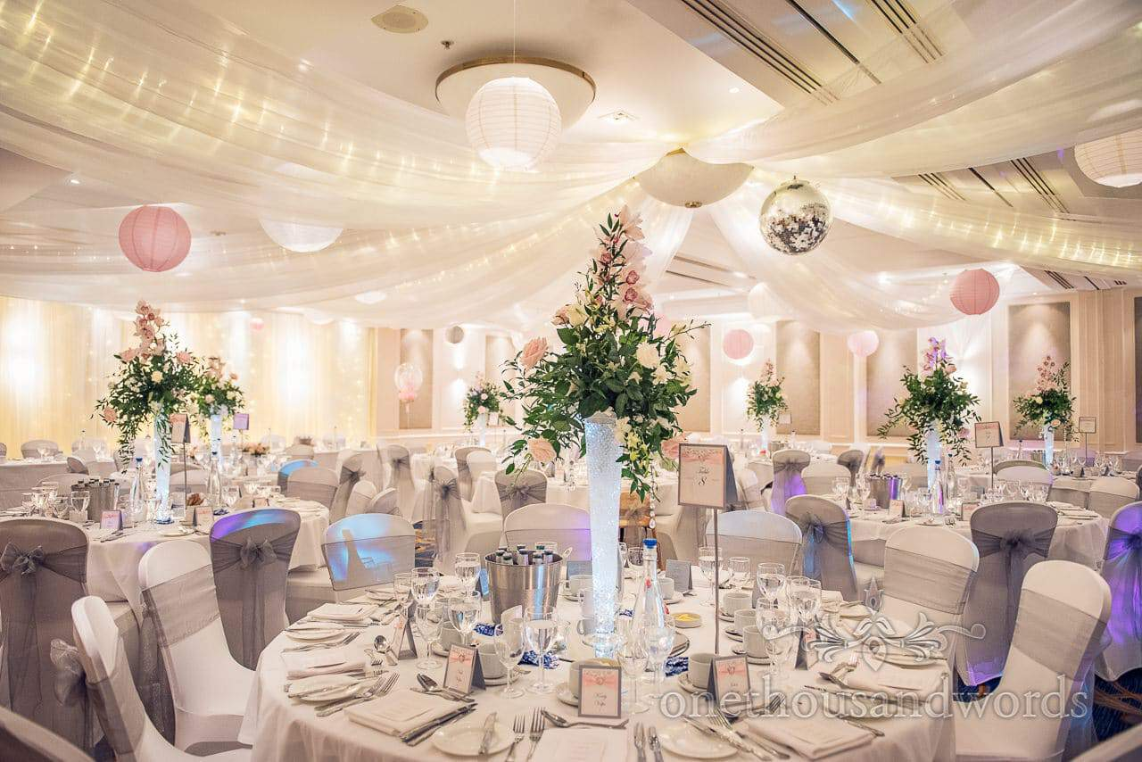 The Dorchester suite at Bournemouth Highcliff Marriott Hotel wedding venue