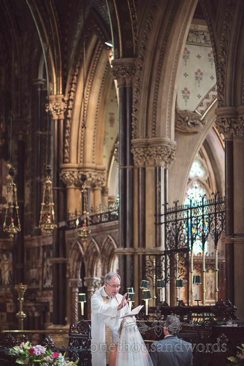 Vicar blesses couple at St Peter's church wedding ceremony in Bournemouth