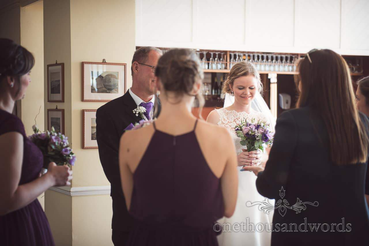 Bridal party with registrar before Grand Hotel Wedding Photographs