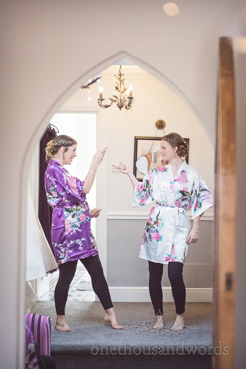 Bride and bridesmaid on morning of Grand Hotel Wedding Photographs