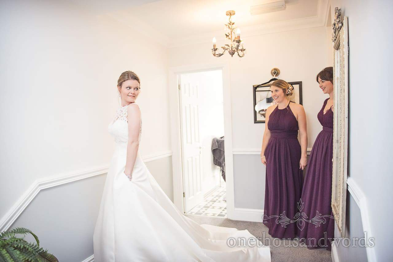 Bride in wedding dress from morning of Grand Hotel Wedding Photographs