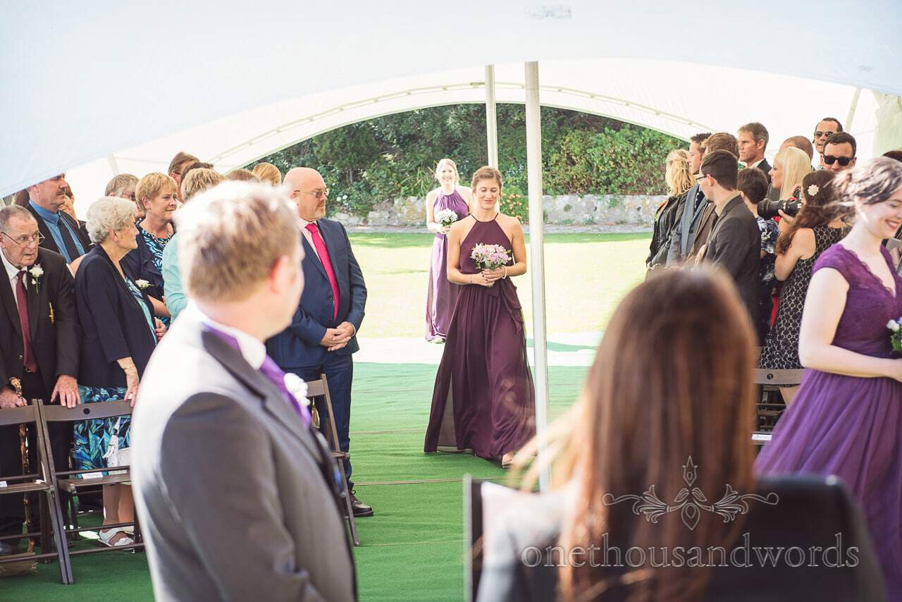 Bridesmaids lead they way for the bride at Grand Hotel Wedding Photographs