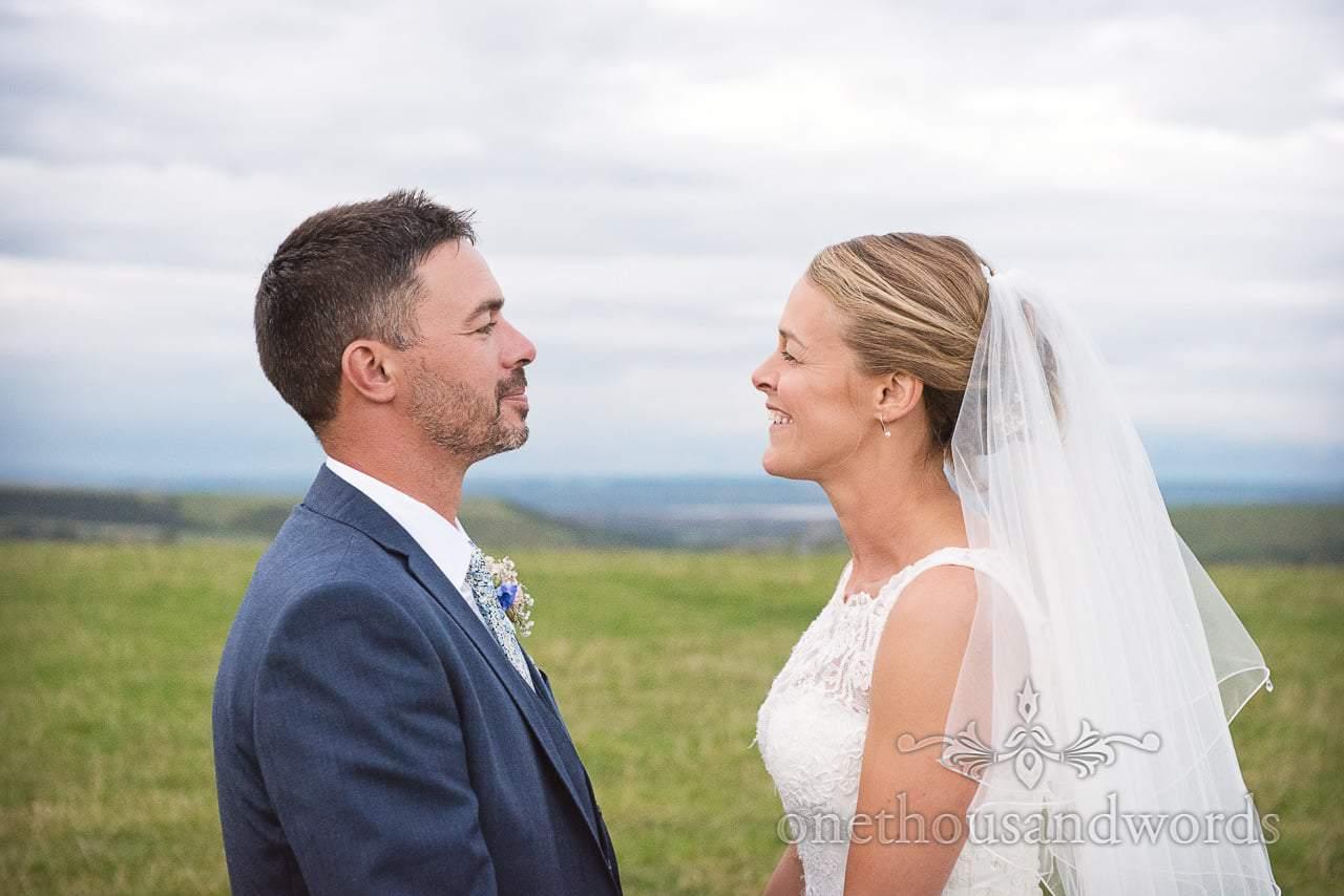 Dorset Wedding Photographer's Wedding Photograph with bride in Dorset countryside