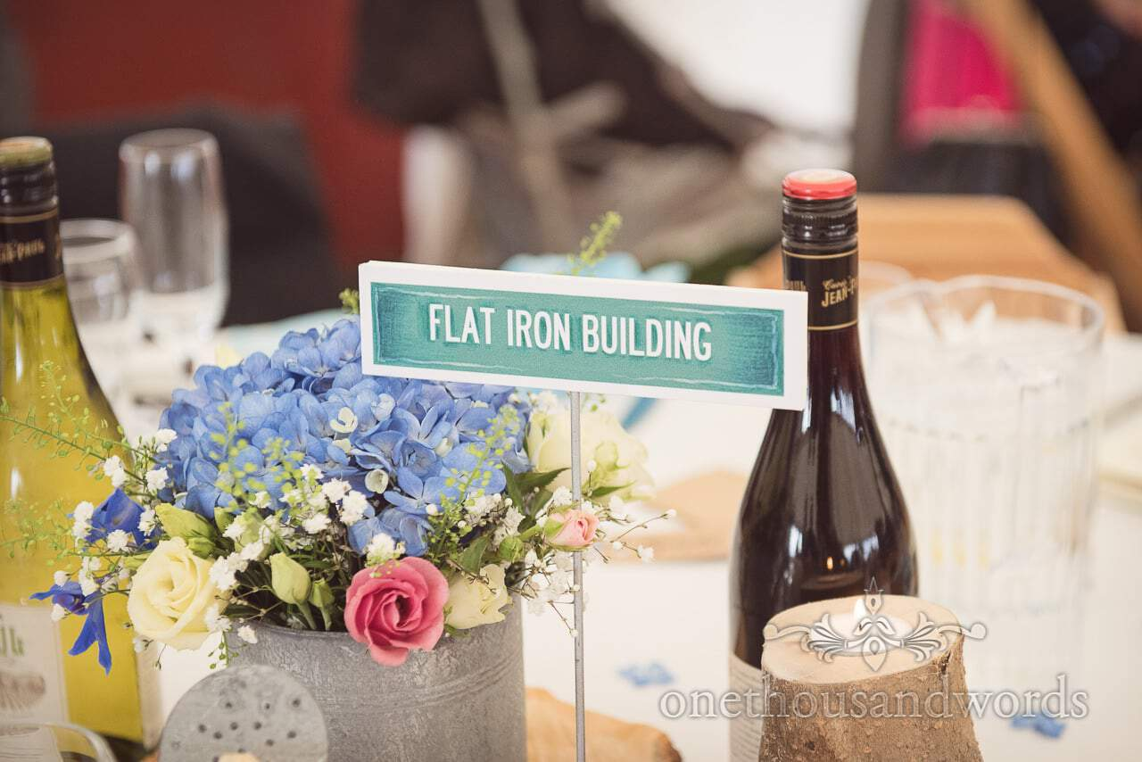 Dorset Wedding Photographers New york themed wedding table name sign