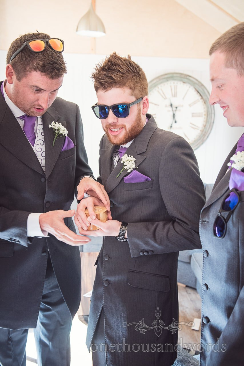 Groomsmen with the precious ring box from Grand Hotel Wedding Photographs