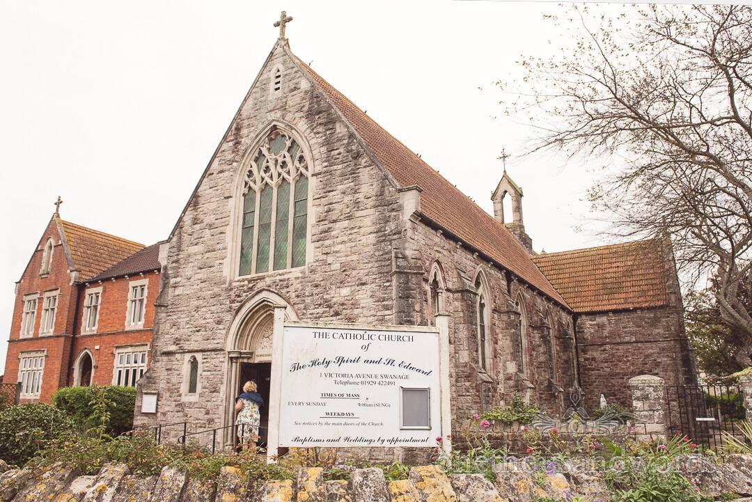 St Edwards Catholic Church wedding venue in Swanage Dorset photograph
